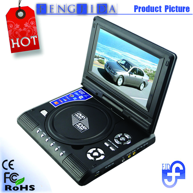 7 inch mini screen portable dvd player with game usb tv. Black Bedroom Furniture Sets. Home Design Ideas