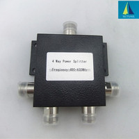 Low frequency N type 400-430 MHz 4 way power splitter/divider widely used in radio/walkie-talkie/metro