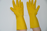 Dark green latex gloves/Heavy duty rubber gloves / industrial latex rubber hand gloves