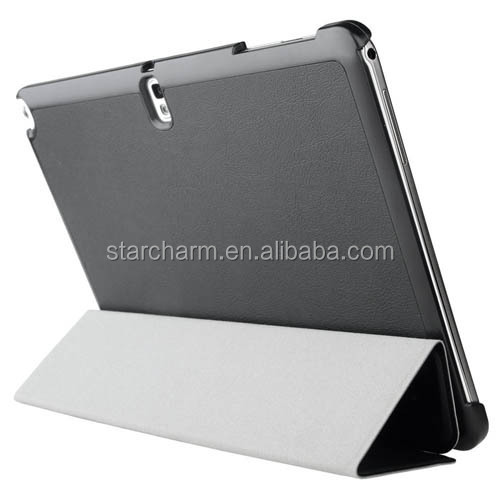 High quality pu full protective cover for samsung note 10.1 tablet case