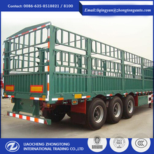 China manufacture 3 axle van cargo box semi trailer for hot sale