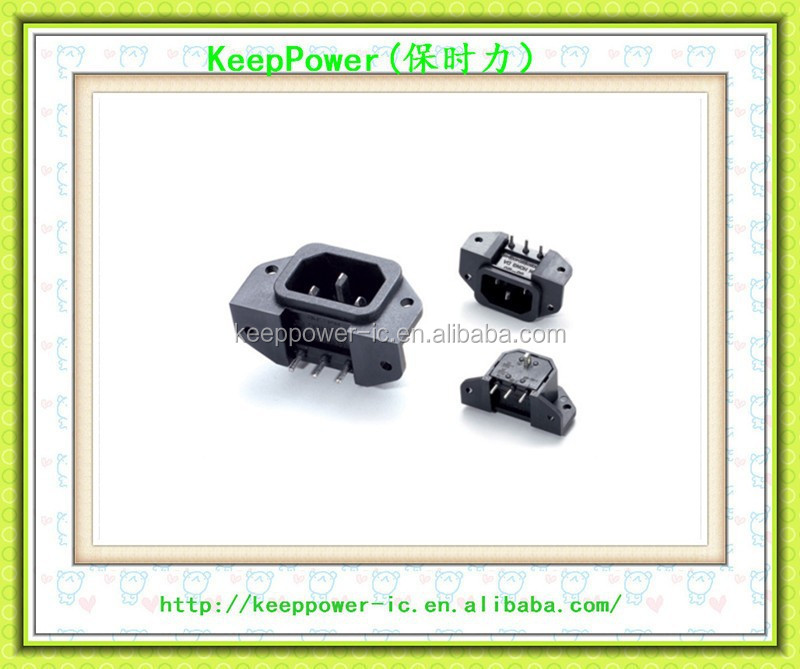 Screw stationary server dedicated plug/word male head power outlet/right Angle connection SS-120E New & Original