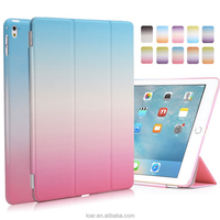 Newest Rainbow Look Pu Leather Front+ Pc Back Smart cover For IPad Air 2 Case For Ipad Pro 9.7 Leather Case For Ipad Mini
