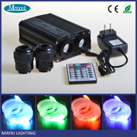 32 Watt dual light port RGBW led fiber optic light projector with color changing for starry star
