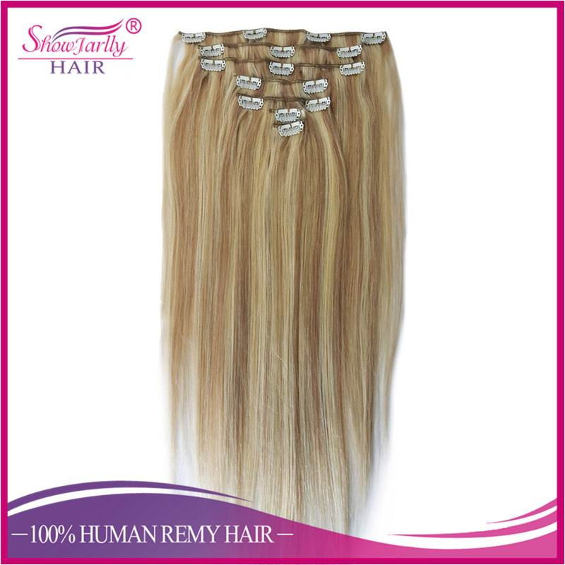 Factory Wholesale virgin remy clip in hiar extensions 7a no tangle one piece clip in human hair extensions free sample