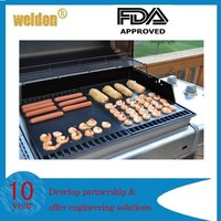 WELDON manufacturer new products outdoor BBQ tools food grade fire returdant bbq grill mats with FDA ROHS certifically