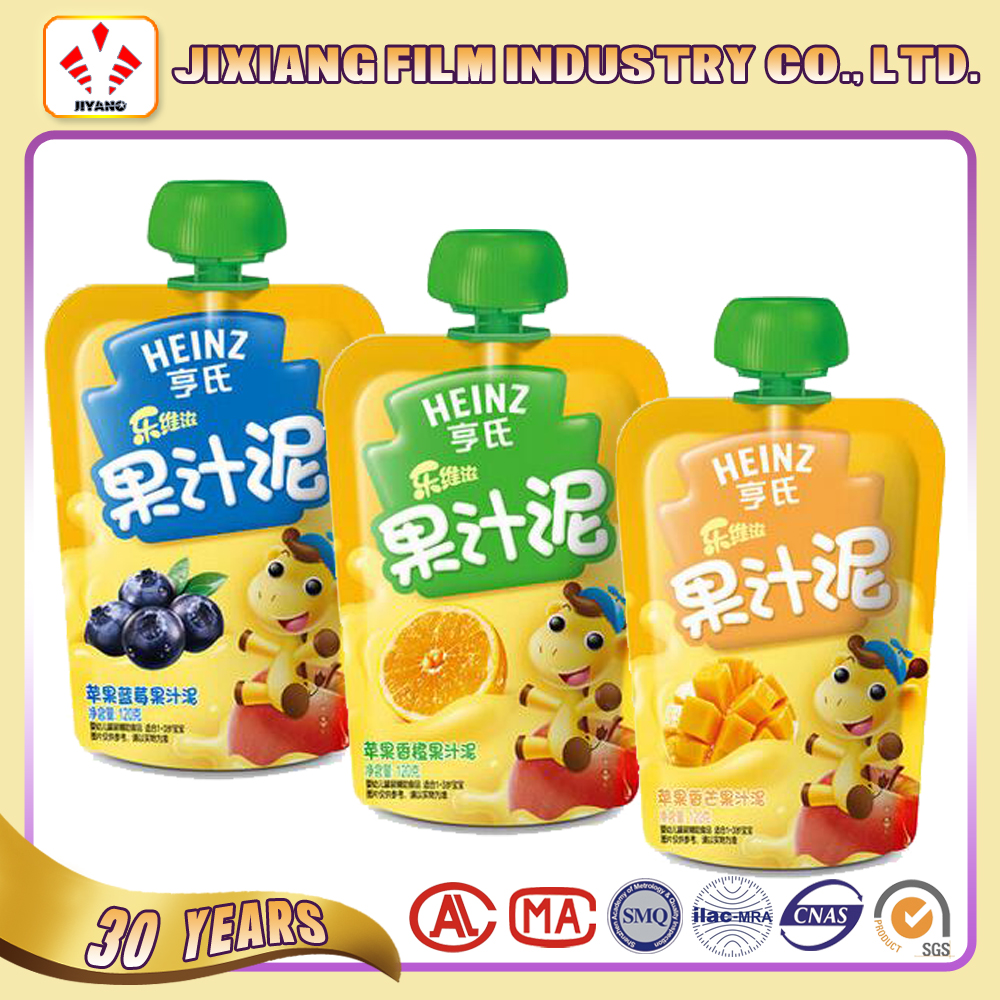 Stand up Spout pouches for child feeding/juice/jelly packaging