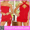 Wholesale New Red Short Tight Sexy Dress Designs