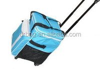 2014 New Design Rolling Soft Cooler Bag with hard plastic liner