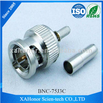 BNC 75 Ohm Male Solder Connector