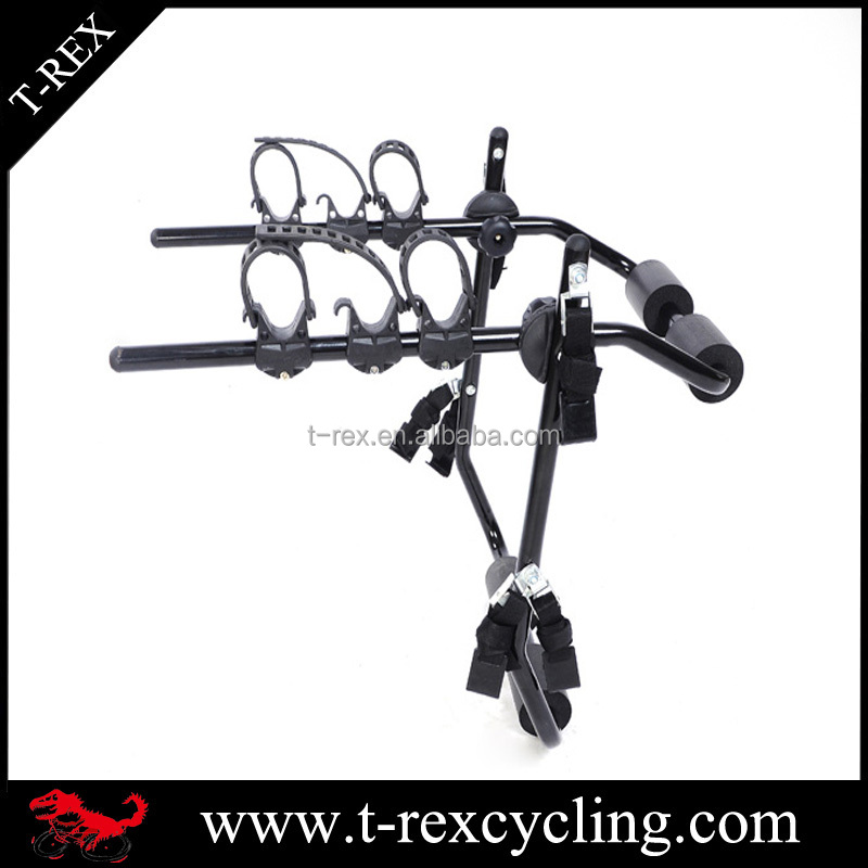 Heavy duty 3 bicycle car carrier rear mount bike hanging rack