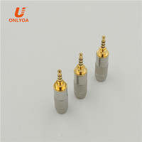 Gold Plated 4 Pole 2.5mm Male Stereo repair Headphone Male Jack Plug Audio Connector