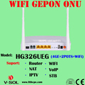 300Mbps External Antenna WIFI GEPON ONU HUG FTTH Solution Device Terminal