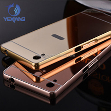 Electroplate Mirror Back Cover + Metal Aluminum Bumper Frame Case For Infinix Zero 3 X552