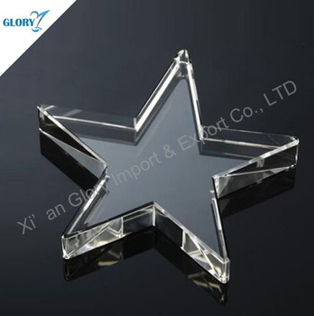 Curved New Unique K9 Trophy Star Crystal Showpieces