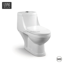 Mid east feature 250mm S-trap lady bidet hole intergrated one piece washdown ceramic WC toilet manufacturer