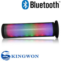Kingwon 2015 hot sale wireless mini JHW-V169 bluetooth speaker voice coil with led light, bluetooth subwoofer with FM radio