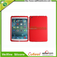 Creative silicone case for mini i pad 2 with snag shape