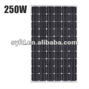 1640*992*40mm High efficiency mono 240W/250W/260W Solar panel(TUV,ISO,MCS)