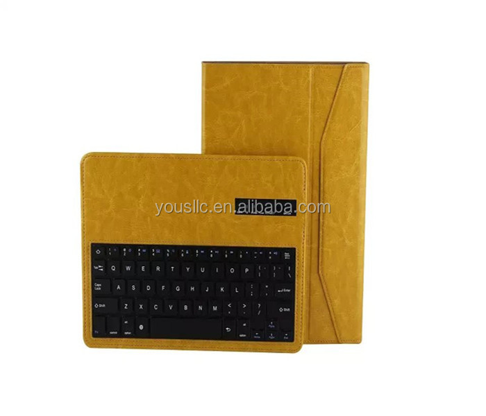 New Detachable Bluetooth Keyboard Leather Case Cover For Samaung Galaxy Note 10.1 2014 Edition P600
