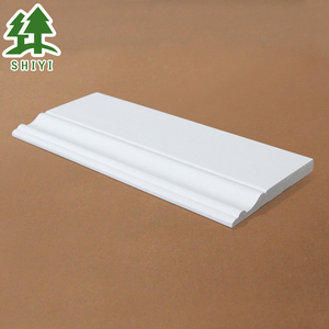 Waterproof solid white radiata pine primed wooden base moulding