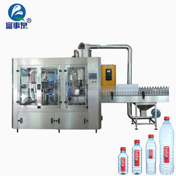Professional automatic factory produce plastic 3-in-1bottle water filling machine