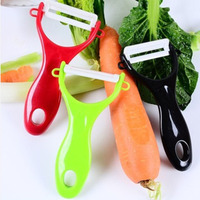 Hot selling ceramic kitchen paring knife multifunctional fruit colorful ABS peeler