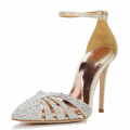 hot fix diamond ankle strap ladies comfortable design with girls party shoes sandal