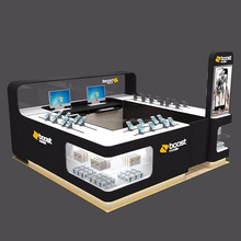 Mall laptop and phone experience stand and accessories display showcase for sale