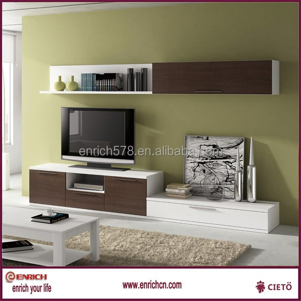 Living room furniture wooden combined melamine TV cabinet for Philippines
