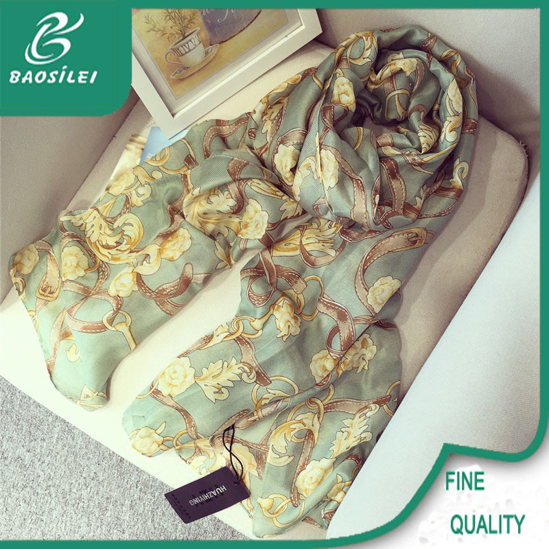 2016 wholesale best quality digital printing silk pashmina scarf in China