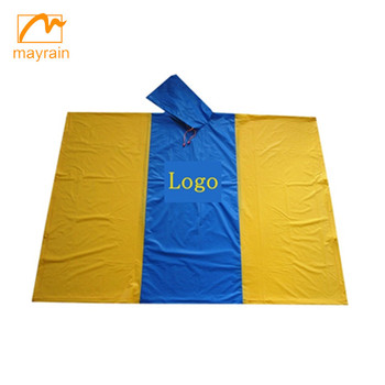 Adult custom logo reusable rain poncho