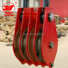 Factory Directly Supply 4 Wheel Strap Lifting Block Pulley