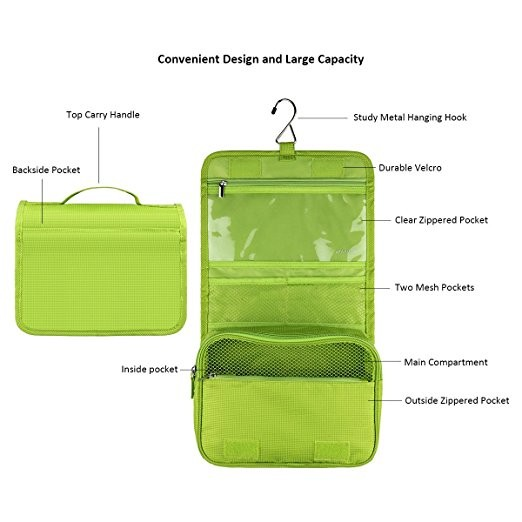Travel Kit Organizer Bathroom Storage Cosmetic Bag Hanging Toiletry Bag for Travel