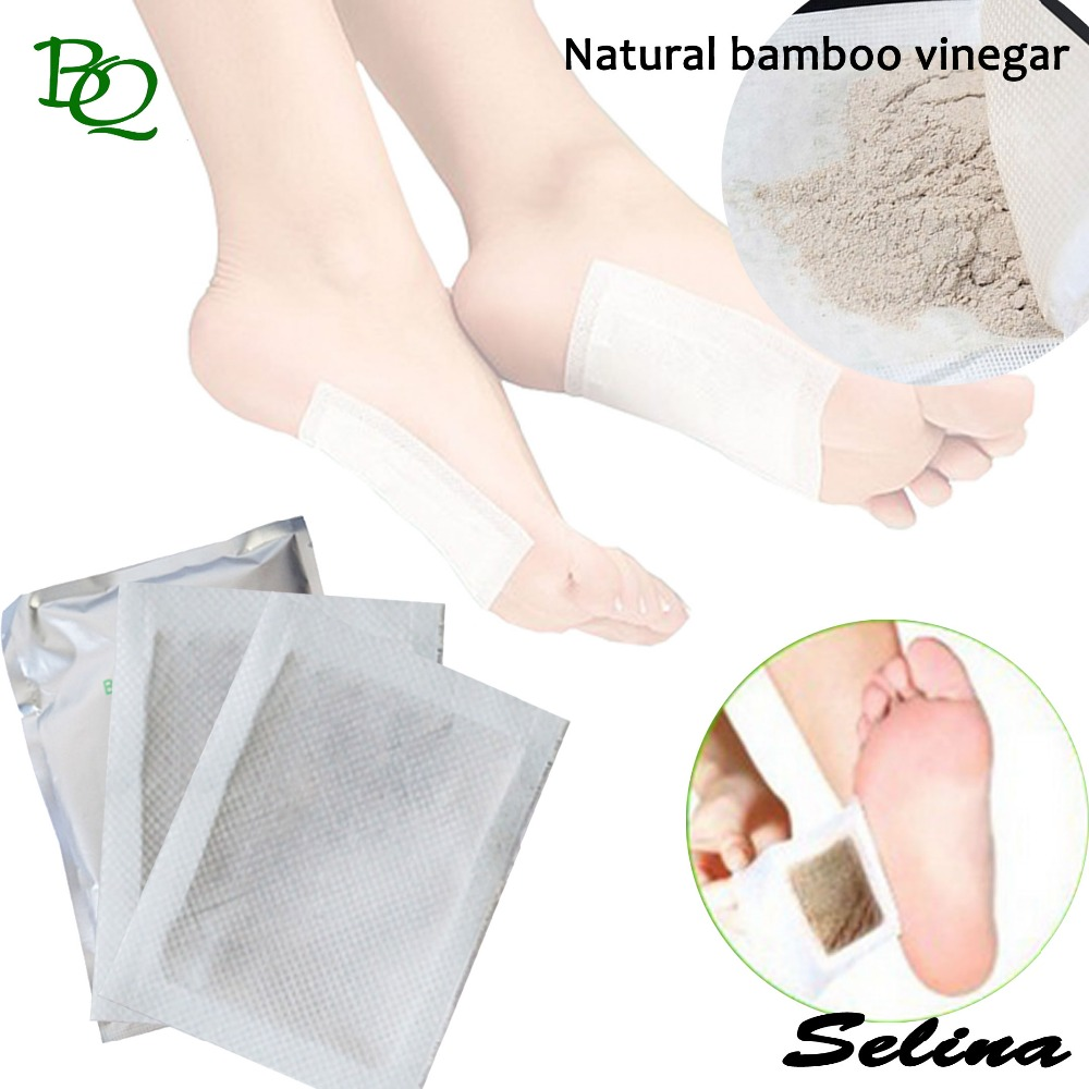 Best Sale wood Bamboo vinegar material detox slim foot patch for relax foot pads