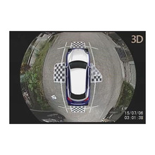 FHD 1080P 3D surround view camera parking system with 4 channels camera