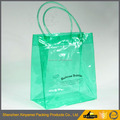 Green Tote bag Packaging Bags With Zipper vinyl packaging bag with handle