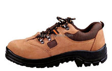 Brown new style leather building safety shoes