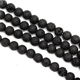 Healing Natural black lava stone beads 4mm 6mm 8mm 10mm 12mm lava rock gemstone beads wholesale
