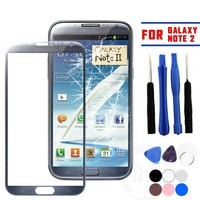 Replacement Front Screen Glass Lens for Samsung Galaxy Note 2 Free Tools