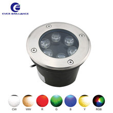 Stainless steel 6w adjustable led inground light twilight low voltage outdoor lighting