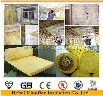 Kingflex high quality soundproof fire resistant fiberglass for Is fiberglass insulation fire resistant