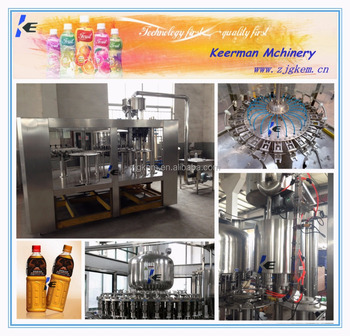 3-in-1 Complete washing filling and capping orange drink processing machine