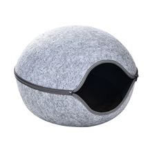 Eco-friendly gatto grotta pet bed, forma di uovo di base del gatto, sentiva gatto letto