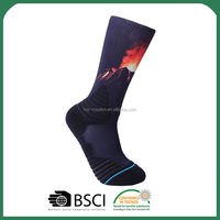 Best selling unique design printing baby socks from manufacturer