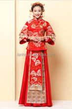 Chinese traditional bottom drawer - cheongsam, red longfeng gown