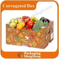 2016 manufacture custom cardboard box for fruit and vegetable/tomato box packaging