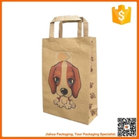 wholesale cheap flat handle kraft paper bag for food