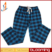100% cotton yarn dyed flannel mens cheap price pajama pants