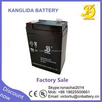 deep cycle rechargeable 6v5ah electric car battery